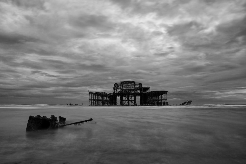 West Pier Brighton Black and White