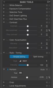 Horizon tab